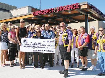North Simcoe Lions Clubs step up for hospital