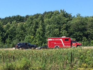 Colborne Hwy. 401 crash sends two to hospital