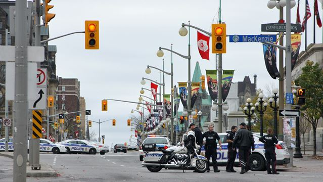 War Memorial shooting leaves soldier dead