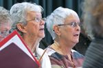Port Perry Seniors Club chorus rehearses for Brooklin concert