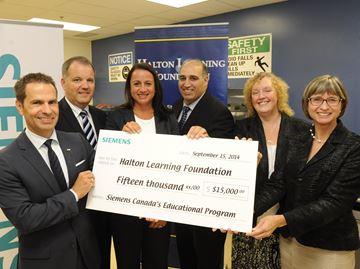 Siemens donates $15K to Garth Webb S.S. new manufacturing program