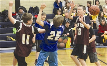 Sports - Glen Tay Public School intermediate students took on Queen Elizabeth Public School from Perth during an all-day basketball tournament held at Perth and District Collegiate Institute and across town at The Stewart School on Thursday, March 27.