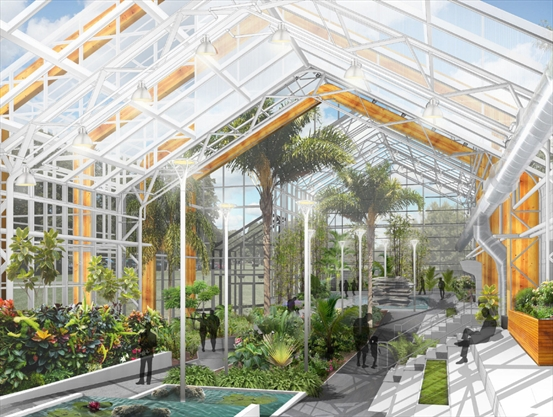 Gage park s greenhouse grows up for Architectural greenhouse
