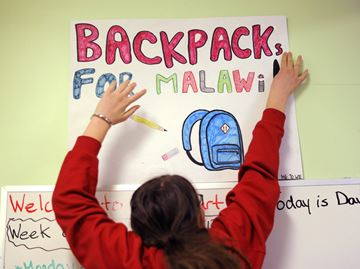 Backpacks for Malawi
