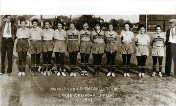 Sons recover 1934 photo of late mom on Oakville Women's Softball Team