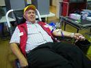 Hugh Chaplin blood donation