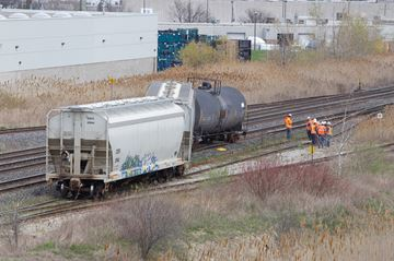 Minor derailment