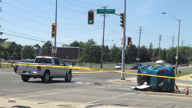 Burlington accident sends driver to hospital