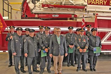 Area firefighters honoured for long standing service