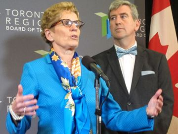 Kathleen Wynne and Glen Murray