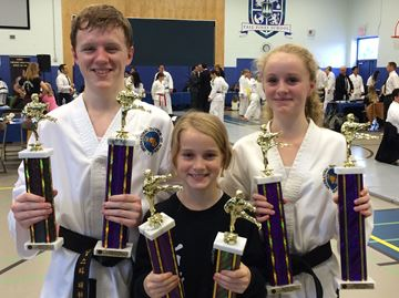Morningstar Taekwon-Do students win 13 titles at Brampton meet