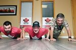 Wounded Warriors Canada pushups