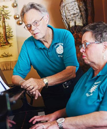 Founder, accompanist rehearse