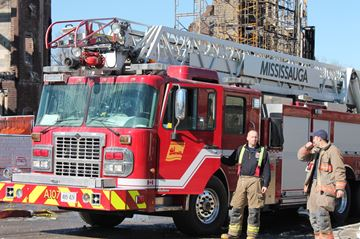 Mississauga firefighters have responded to a balcony fire.
