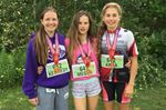 From left, Kennedy Munro, Megan Oldham and Anna George.