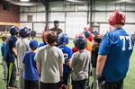 Former Jay Lloyd Moseby entertains, teaches, at New Lowell baseball facility