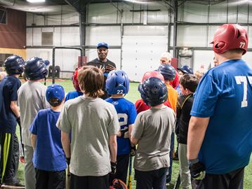 Former Jay Lloyd Moseby entertains, teaches, at New Lowell baseball facility