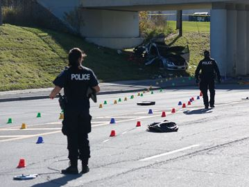 Two men charged after Merivale Road crash