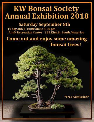 K W Bonsai Society Show On September 08 2018 Toronto Com