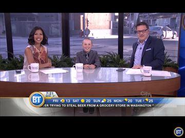 Alliston boy appears on City TV's Breakfast Television