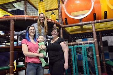 Parents can find respite at Recharge & Play Wellness Café:Esthetic services offered with child-minding on site