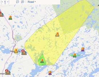 Hydro One's outage map (4:15 p.m.)