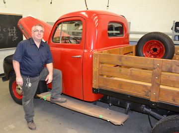 St. Theresa's raffling off restored 1947 Ford truck