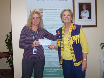 Barrie Lions Club gives to local groups