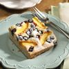 Start your day off with a nectarine blueberry slice