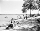 Barber's Beach on Lake Puslinch in 1960. At one point before 1900 the lake had five summer hotels for visitors.