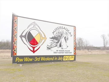 Mississaugas of Scugog Island First Nation Sign