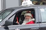 Catching a cab with Santa in Orillia