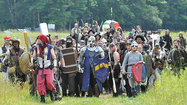 Armée marchant pendant un GN