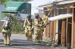Firefighters put out blaze at storage locker