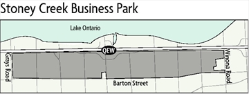 Stoney Creek Business Park map