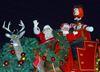 Santa Parade Comes To Richmond Hill