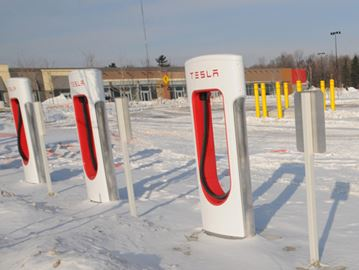 electric car charging station opens friday at park place in barrie. Black Bedroom Furniture Sets. Home Design Ideas