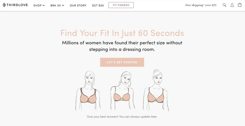 9e170a0eb3 Can an online quiz deliver the perfect bra  These Instagram-famous  companies think so