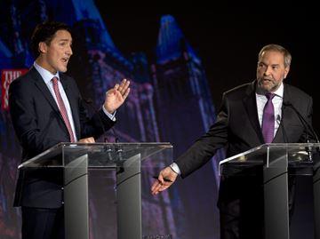 Trudeau and Mulcair