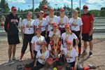 Provincial championship for Stittsville 56ers novice girls ball team