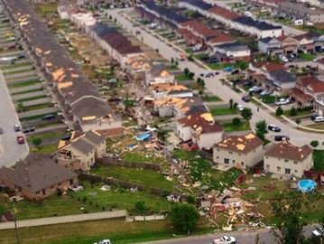 Tornado damages homes in Angus