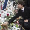 Trudeau calls visit to Paris attack site 'touching'