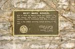 West Ward school plaque