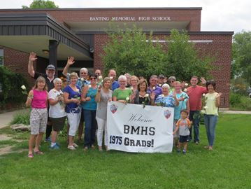Alliston high school class of 1975 reunites