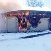 Garage destroyed in Blackstock fire
