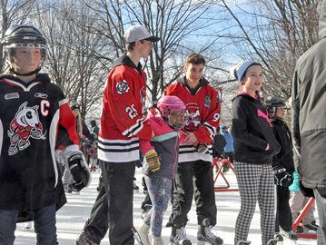 IceDogs Family Day skate