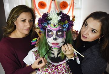 Day of the Dead Faces by 2