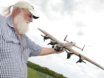 Model airplanes take flight in Burlington