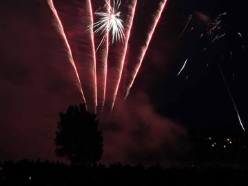 Fireworks lit up the night sky Monday to celebrate Victoria Day.