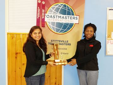 'Goof off' time at Stittsville Toastmasters Club meeting